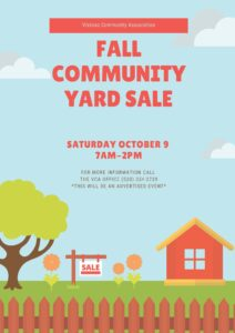 Illustrated Yard Sale Poster 2021